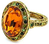 Kenneth Jay Lane Large Amber Crystal Oval Cocktail Ring