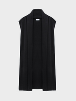 DKNY Pure Cashmere Gilet Vest With Shawl Collar