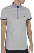 Burton Burton Bewley & Ritch White Printed Short Sleeve Polo Shirt
