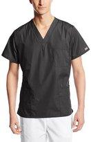 Cherokee Workwear Scrubs Unisex V-Neck Top, Pewter, X-Small