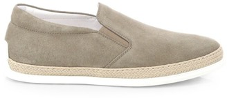 Tod's Suede Espadrille Slip-On Sneakers