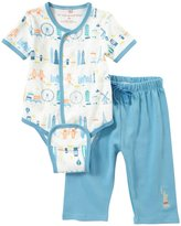 Magnificent Baby World Cities Bodysuit Pant Set (Baby) - Blue-9 Months