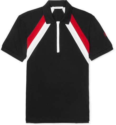 Givenchy Slim-Fit Striped Cotton-Piqué Polo Shirt