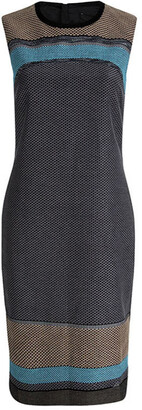 HUGO BOSS Boss By Multicolor Textured Sleeveless Diesra Dress S