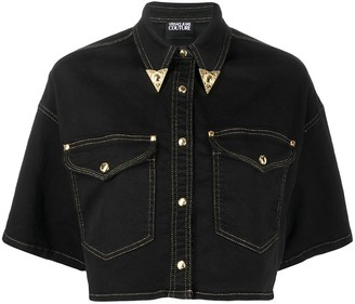 Versace Cropped Denim Shirt