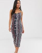 Miss Selfridge mesh midi dress in floral print