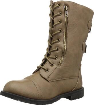 Brinley Co. Women's Kiley Combat Boot