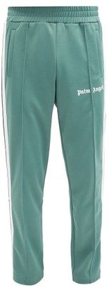 Palm Angels Logo-print Jersey Track Pants - Light Green