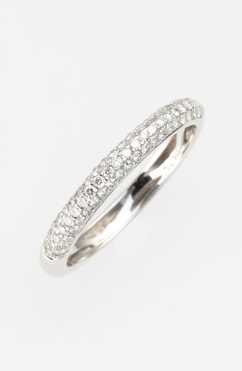 Nordstrom Bony Levy Stackable Pavé Diamond Band Ring Exclusive)