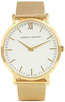 Larsson & Jennings Lugano gold-plated watch
