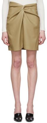 Nanushka Khaki Vegan Leather Milo Miniskirt