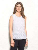dressbarn Sleeveless Lace Shell Top
