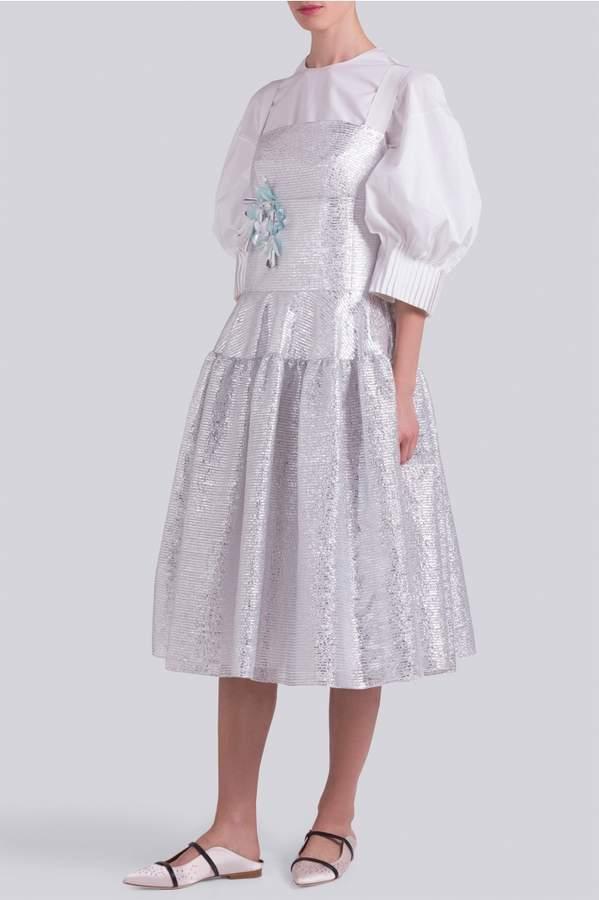 DELPOZO Lurex Midi Dress