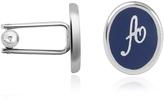 Forzieri Alphabet Initial Enamel Silver Plated Cuff links