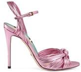 Gucci Metallic knot sandal