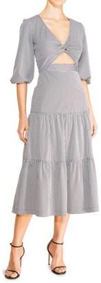 Parker Marzia Cutout Tiered Midi Dress