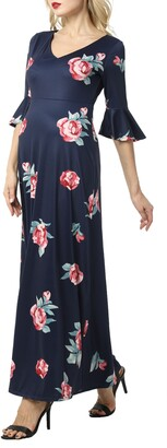 Kimi and Kai Louisa Floral Maternity Maxi Dress
