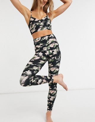 And other stories & recycled yoga leggings in abstract print