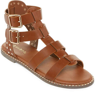 Bamboo Womens Minimal-58 Adjustable Strap Gladiator Sandals