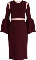 Roksanda Nair bell-sleeved cady dress