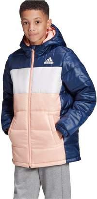adidas Youth Synthetic Jacket - Pink/White