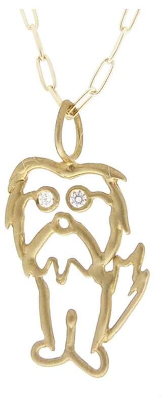 Ten Thousand Things Eddie' Charm in Yellow Gold with Diamond Eyes
