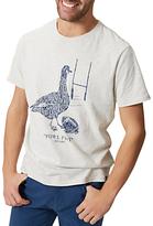 Joules Fowl Play Graphic Print T-shirt, Cream Marl