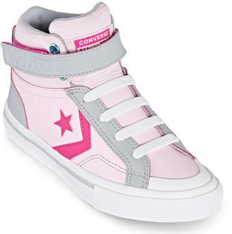 Converse Pro Blaze Strap Hi Leather Sneakers-Little Kid/Big Kid Girls