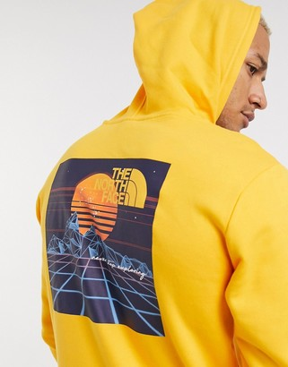 The North Face Throwback hoodie in yellow