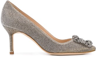 Manolo Blahnik Hangisi crystal embellished pumps