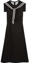 Dolce & Gabbana Crystal-embellished Polka-dot Cotton-blend Twill Dress - Black