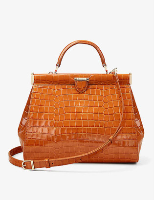 Aspinal of London Florence crocodile-embossed leather tote bag
