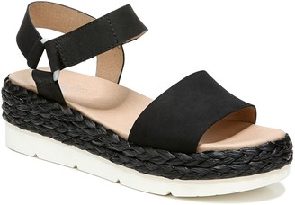 Dr. Scholl's Raffia-Wrapped Leather Sandals - Other Side