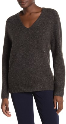 Vince V-Neck Back Panel Cashmere Tunic