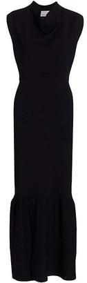 3.1 Phillip Lim Military Cowl-Neck Ribbed Dress