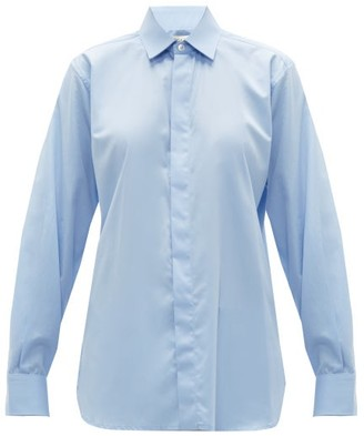 Bottega Veneta Oversized Cotton-chambray Shirt - Blue
