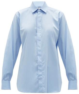 Bottega Veneta Oversized Cotton-chambray Shirt - Womens - Blue