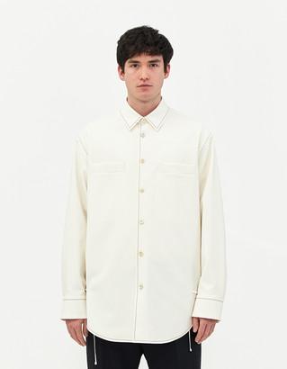 Jil Sander Men's Asher Jacket in Porcelain White, Size 46 | 100% Cotton