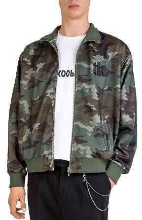 The Kooples Camouflage Zip Jacket
