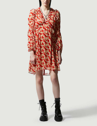 The Kooples Paisley-print woven mini dress