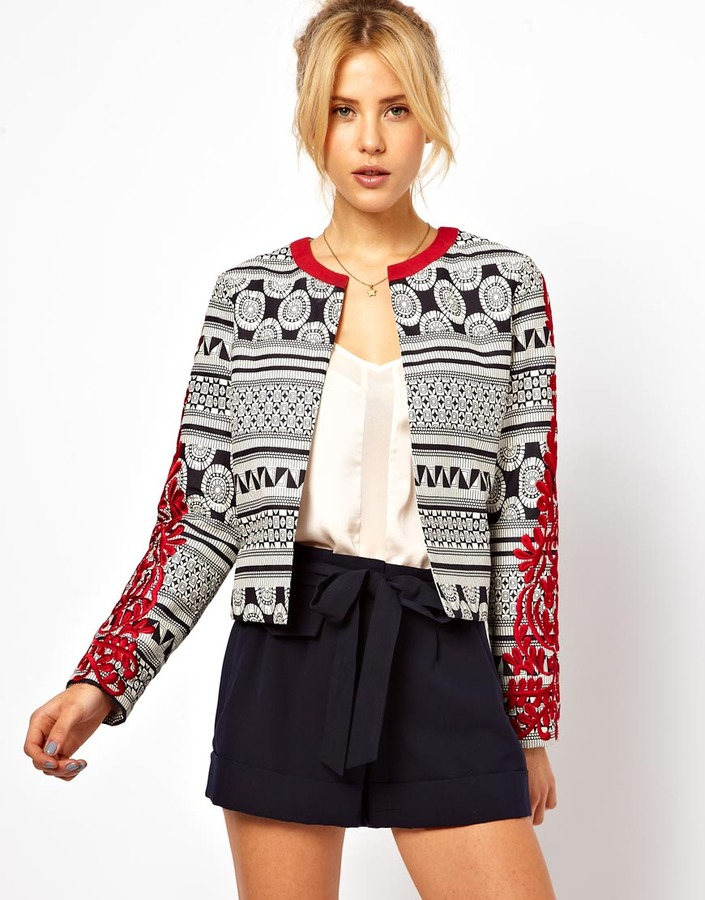 Asos Statement Jacket with Embroidered Sleeves
