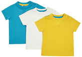 John Lewis Short Sleeve Jersey Cotton T-Shirt, Pack of 3, Multi