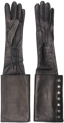 Manokhi Long Buttoned Cuff Gloves