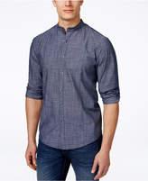 Alfani Men's Warren Banded-Collar Long-Sleeve Shirt, Classic Fit