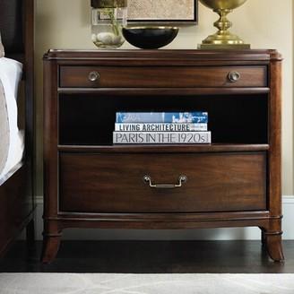Hooker Furniture Palisade 2 - Drawer Nightstand in Dark Walnut