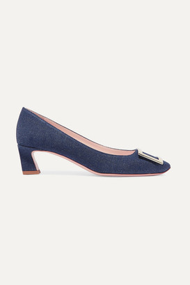 Roger Vivier Trompette Denim Pumps - Mid denim