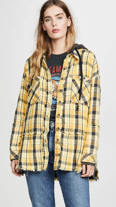 Free People Calico Basin Plaid Button Down