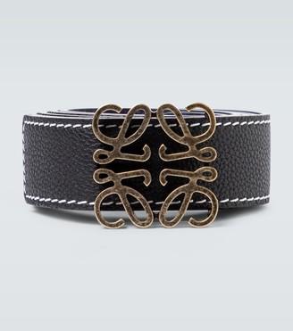 Loewe Anagram reversible leather belt