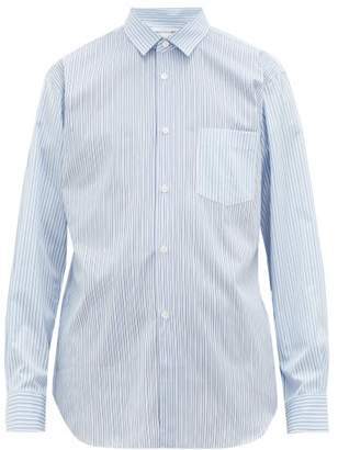 Comme des Garcons Forever Striped Cotton-oxford Shirt - Mens - Blue Multi