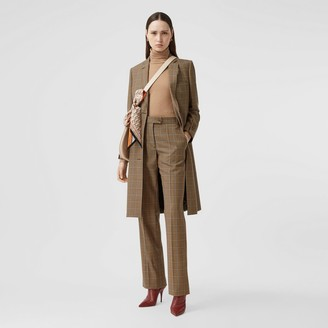 Burberry Prince of Wales Check Wool Tailored Trousers